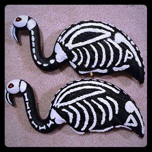 Halloween Skeleton Flamingos
